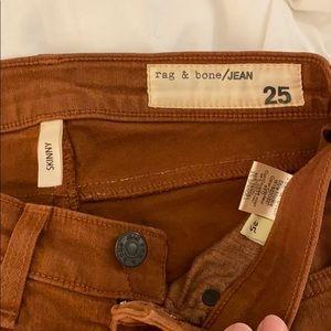 Terra-cotta rag and bone skinny jeans
